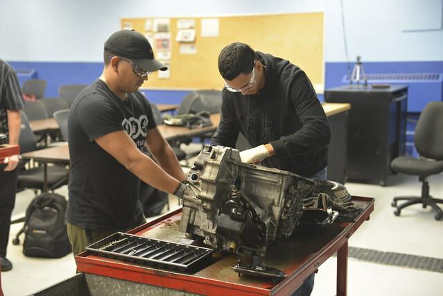 work on engine