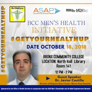 Dr Castillo speaking about the BCC Men's Health Initiative