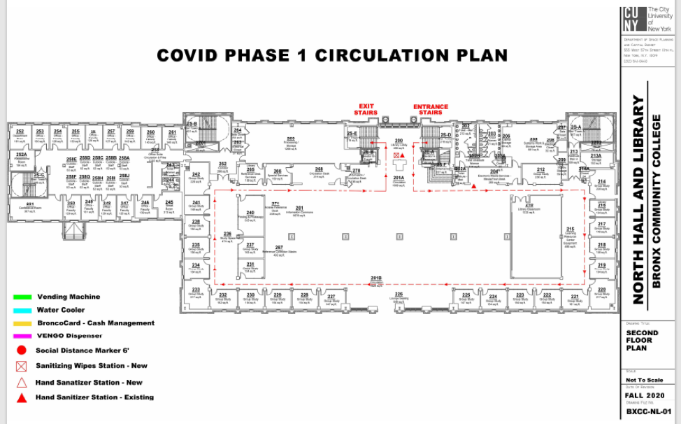 North Hall and Library Circulation Plan