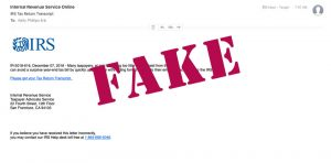 IRS Fake Email Scam