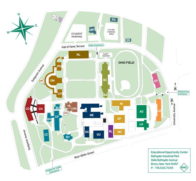 Bcc Campus Map Directions & Parking – Bronx Community College